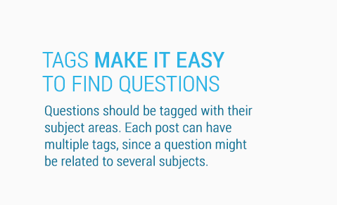 Tags make it easy to find questions.