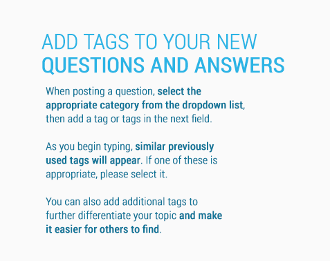 Remember to add tags to your new questions & answers.