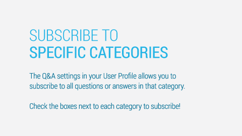 Subscribe to specific categories under your user profile.