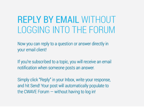 Reply by email without logging into the Forum